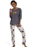Dámske pyžamo Cornette 143134 Rain grafitové