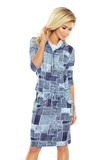 Dámske šaty Numoco 44-17 modré
