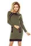 Dámske šaty Numoco 129-7 khaki