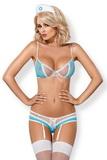 Erotický kostým Obsessive 834-CST svetlo modrý
