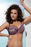 Dámske dvojdielne plavky KrisLine Mozaica fialové