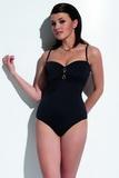 Dámske jednodielne plavky KrisLine Donna čierne