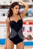 Dámske jednodielne plavky Lorin L41338 čierne