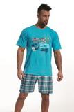 Pánske pyžamo Cornette 32665 Football cup tyrkysové
