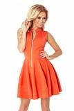 Dámske šaty Numoco 123-5 oranžové