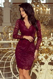 Dámske šaty Numoco 170-5 vínové