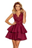 Dámske šaty Numoco 207-1 bordové