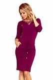 Dámske šaty Numoco 230-1 bordové