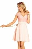 Dámske šaty Numoco 242-1 Anna ružové