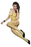 Pruhované body LivCo Corsetti Almas žlté