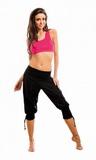 Dámske fitness nohavice gWinner Fantasia čierne