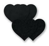 Ozdoby na bradavky - čierne srdiečka
