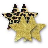 Ozdoby na bradavky - leopardie hviezdičky
