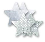 Ozdoby na bradavky - ligotavé hviezdičky